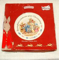 BOXED Royal Doulton BUNNYKINS PLATE - CHRISTENING (Nursery Scene)