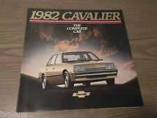 "MINT 1982 CHEVROLET CAVALIER CHEVY BROCHURE 10"" X 10""  23 PAGES (BOX 261)"