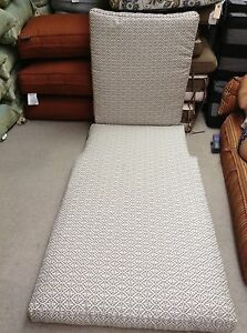 Frontgate Santa Clara Outdoor Deluxe Chaise Lounge Cushion Michelle brown 80x28