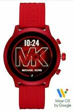NEW! MICHAEL KORS ACCESS MKGO Red Aluminum Red Silicone Touchscreen Smartwatch