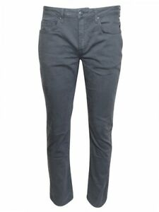 Buffalo By David Bitton Ash-X Jeans Softly Washed Charcoal Men's Slim Stretch
