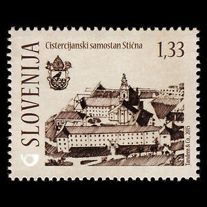 """Slovenia 2015 - Medieval Architecture """"Cistercian Monastery in Sticna"""" - MNH"""