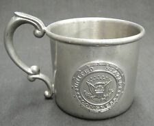 Vintage Empire Pewter Small Cup United States Congress Embossed Seal 892