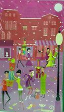 "SHAG Josh Agle  ""COOL YULE"" Advent Calendar Art Card Mid-Century Modern  11 x 18"