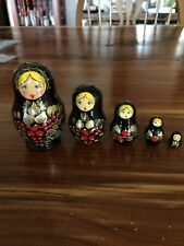 Russian Nesting Dolls Handpainted Set Of 5