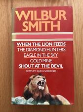 SIGNED Wilbur Smith WHEN THE LION FEEDS USA 1980 RARE Edition