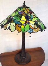 Fresno Table Lamp - Tiffany Style Handcrafted Leadlight Lamp - New