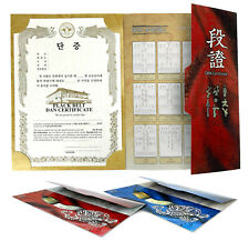 Martial Arts World Taekwondo Federation Wtf Black Belt Dan Certificate with Case
