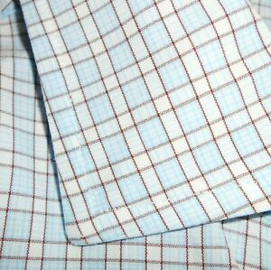 16 1/2 - 36 Brooks Brothers SLIM FIT French Cuff Dress Shirt White/Blue/Brown