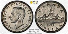 1946 Canada Silver $1 Coin King George VI PCGS AU-58