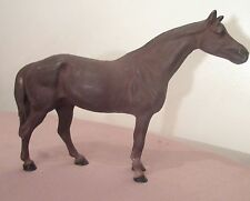 rare antique solid cast iron figural heavy horse door stop statue figure toy old