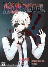 DVD Uncut TOKYO GHOUL Season 1+2 Vol 1-24 End *ENGLISH VERSION* +OVA Jack +Pinto