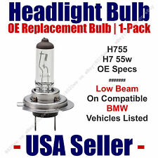 Headlight Bulb Low Beam OE Replacement 1pk Fits Listed BMW Models - H7 55