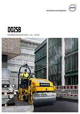 Volvo Construction DD25B 08 / 2015 catalogue brochure road roller  compacteur