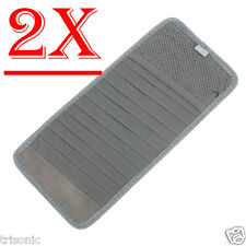 12 Disk Auto Car Accessories Sun Visor CD DVD Card Case Holder Lot of 2 New Gray