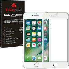 White TECHGEAR TEMPERED GLASS FULL Coverage Screen Protector for iPhone 7 Plus