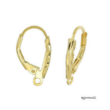 Gold Plated Sterling Silver Laser Cut Leverback Earring Ear Wire Connector 99418