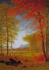 "Albert Bierstadt, ""Autumn in America"", digital print, 22""h x 15""w image"