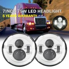 "2x 7"" INCH 150W LED Headlight Hi/Lo Beam DRL For Freightliner Century 1996-2011"