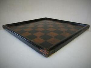 VINTAGE CHESS BOARD MADE DURING THE GREAT STRIKE IN 1926  37cm SQUARES OF 43mm