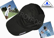 1-HEADWEAR HYPERKEWL-BLACK #6593 COOLING CAP/HAT TECHNICHE SPORTS GOLF SUN GEAR