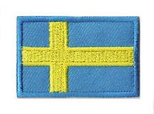 Patch écusson petit transfert thermocollant Suède Sweden 45x30 mm