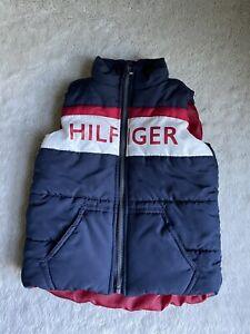 Tommy Hilfiger 18 months Baby Boy Puffer Vest Navy Red Outerwear