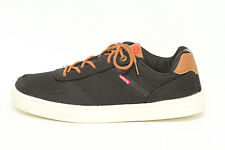 Levi's Kids Jeffrey Youth Black Canvas Sneakers Size 6.5