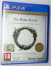 THE ELDER SCROLLS ONLINE TAMRIEL UNLIMITED Manuale Italiano PS4 Sony Playstation