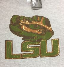Lsu Tigers Xl Football Sweatshirt Camo Tiger Logo New NCAA Gray Sec