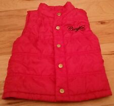 Boys COOGI Australia puffer vest red 3T button up jacket