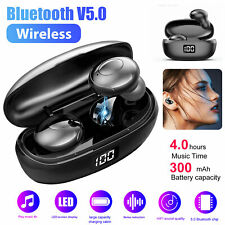 Bluetooth 5.0 Headset TWS Wireless Headphone Earbuds Noise Cancelling Waterproof