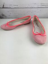 Repetto Paris Cendrillon Ballet Flats With Bow Shoes Womens Size US9 (40 ) Pink