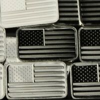 Lot 30 X 1 Gram  .999 Fine Silver Bar Bullion / American flag  WPT469 oz