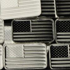 Lot 30 X 1 Gram  .999 Fine Silver Bar Bullion / American flag  WPT469 oz