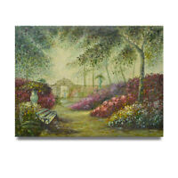 NY Art - Whimsical Botanical Gardens 36x48 Original Oil Painting on Canvas!