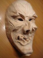Maskenrohling Dämon Nr.128  Perchtenmaske, Fasnet, Rohling, Holzmaske Larve,