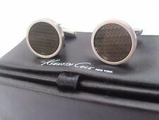 Kenneth Cole New York Black Textured Inlay Cufflinks, $60 Retail