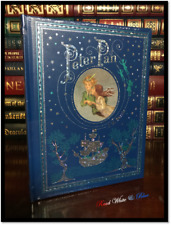 Peter Pan by Barrie New Sealed Leather Bound Illustrated Childrens Gift Hardback
