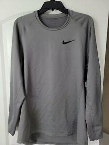 Nike Dri-FIT Pro Warm Training Shirt 929721 036 Grey/Black New Men's Size XL