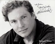 RICHARD WHITE hand-signed CLOSEUP 8x10 PORTRAIT uacc rd coa BEAUTY & THE BEAST