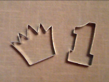 First Birthday Cookie Cutters, Set of 2, Number One & Crown