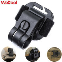 Weltool Tactical Helmet Flashlight Holder Light Clip ARCs Rail MOLLE + Strap HM1
