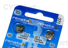2 pcs x Renata 371 SR920SW Silver Oxide Watch Battery, Swiss Made FREE POST WW