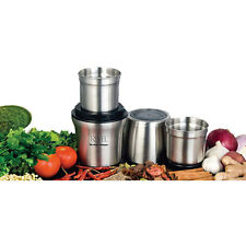REVEL WET AND DRY GRINDER WITH TWO SEPERATE BOWLS - STAINLESS STEEL - CCM102