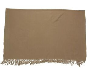 Williams Sonoma Rustic Woodsy Brown Cashmere Throw Blanket $299 - 831