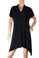🌻*LOUNGE APPAREL SIZE XL BLACK  JERSEY ASYMMETRICAL TUNIC STYLE DRESS