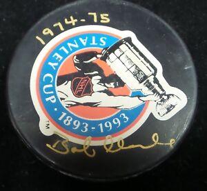 Bob Clarke Hand Signed AUTOGRAPHED Hockey Puck Phila Flyers Upper Deck  COA