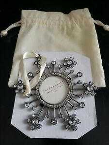Pottery Barn Jeweled Snowflake Shape Picture Frame Ornament Christmas Sparkle