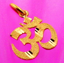 22 CARAT SOLID GOLD HINDU RELIGIOUS OM AUM OHM Cut out Pendant Charm IND